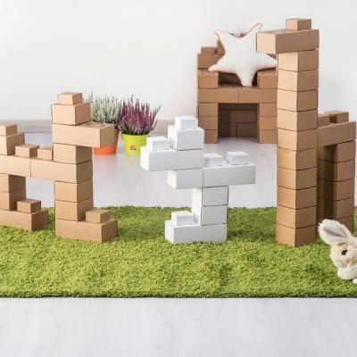 Mattoncini costruzione in cartone riciclato Edo 25 Bianchi