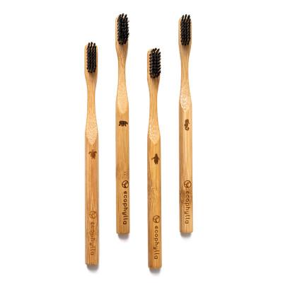 Spazzolini in bambù al carbone attivo, m. Matita